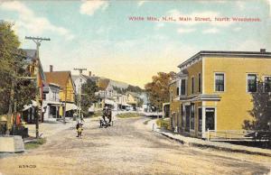 White Mts New Hampshire Main Street Scene Historic Bldgs Antique Postcard K41518