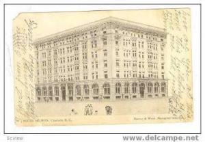 Hotel Selwyn, Charlotte, North Carolina, 1907