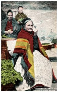 Ireland  Grandmother Street merchant smoking a Pipe