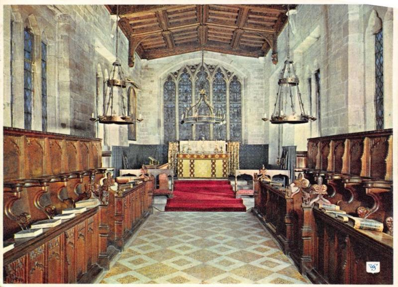 Postcard WARWICK Lord Leicester Hospital, The Chapel by Walter Scott