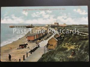 c1904 - Clacton-on-Sea, West Beach and Promenade, showing Mobile Beach Changing