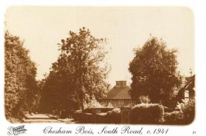 Buckinghamshire Postcard c1941 Chesham Bois, South Road, Francis Frith Repro V29