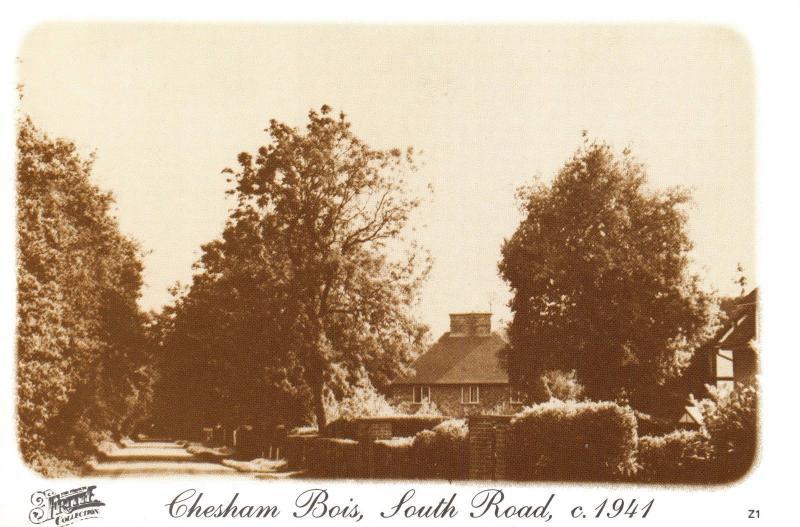 Buckinghamshire Postcard c1941 Chesham Bois, South Road, Francis Frith Repro V29