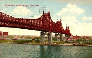 NY - New York City. Blackwell's Island Bridge    (creases)