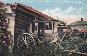 SAN DIEGO, California, 1900-10s; First Stage in California at Ramona's Marria...