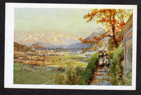 Austria Salzburg von Maria Plain Artist Signed Postkarte Carte Postale Postcard