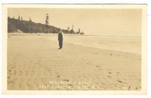 RP; Man on Whitaker's Beach, Roberts Creek , B.c. , Canada , 1910s