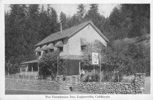 THE FARMHOUSE INN Laytonville, CA Harry Elliott Ranch c1910s Vintage Postcard