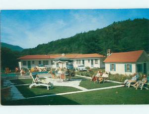 Unused 1950's OLD CARS & MITCHELL MEADOW MOTEL Andover New Hampshire NH s6027