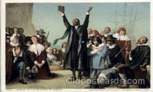 Landing of Pilgrims, Gisbert American History Postcard Post Card  L&ing of Pi...