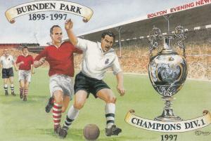Bolton Famous Last Football Match At Burnden Park Stadium Painting Postcard