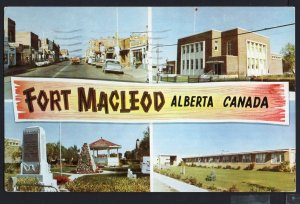 Alberta ~ MultiView FORT MACLEOD pm1966 - Chrome 1950s-1970s