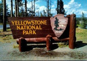 Yellowstone National Park Yellowstone Entrance Sign