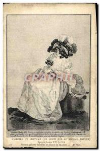 Old Postcard History of Costume Female galatne Louis XVI