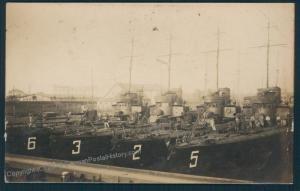 Germany WWI Navy Ship TBoot Torpedoboat Fleet   RPPC 53001