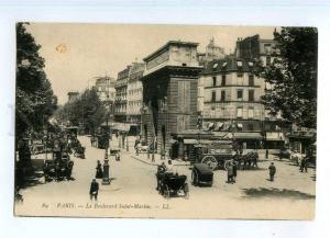 247771 FRANCE PARIS Boulevard Saint-Martin carriage Vintage PC