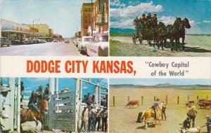 Kansas Dodge City Cowboy Capitol Of The World Multi View 1962
