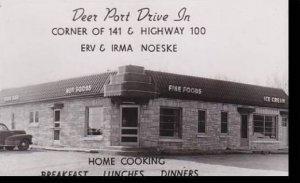 Wisconsin Milwaukee Deer Port Drive In Restaurant Real Photo RPPC