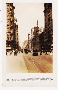 UNDERWOOD & UNDERWOOD # 532 NYC REAL PHOTO, 5TH AVE NORTH FROM 42ND ST.  NYC