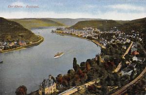 Der Rhein Boppard Gesamtansicht Schiff Boat River Castle General view