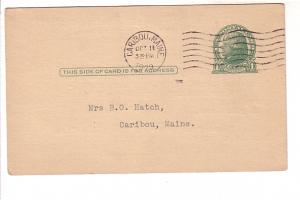 Post Office Issue Jefferson 1 Cent Green, Caribou, Maine. 1929, Hutchison Flo...