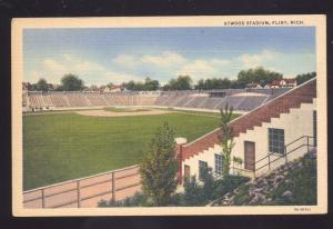 FLINT MICHIGAN ATWOOD BASEBALL STADIUM FIELD SPORTS VINTAGE POSTCARD