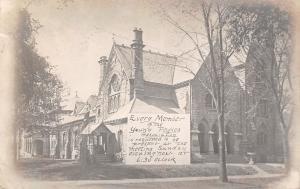 Rock Island IL~Broadway Presbyterian Church~Young People Meetin Banner~1906 RPPC