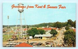 Postcard DE Harrington Kent & Sussex Fair Airview Concession Area c1950s J16