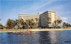Hotel Bali Beach Sanur BALI Indonesia c1950s Vintage Postcard