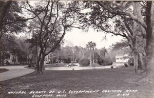 Mississippi Gulfport U S Government Hospital Grounds Real Photo