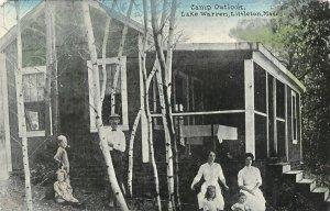 Littleton Massachusetts~Lake Warren~Victorian Family at Camp Outlook~Cabin~1908