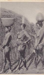 Topless Zulu Women Going To The Market, Cape Town, South Africa, 1900-1910s