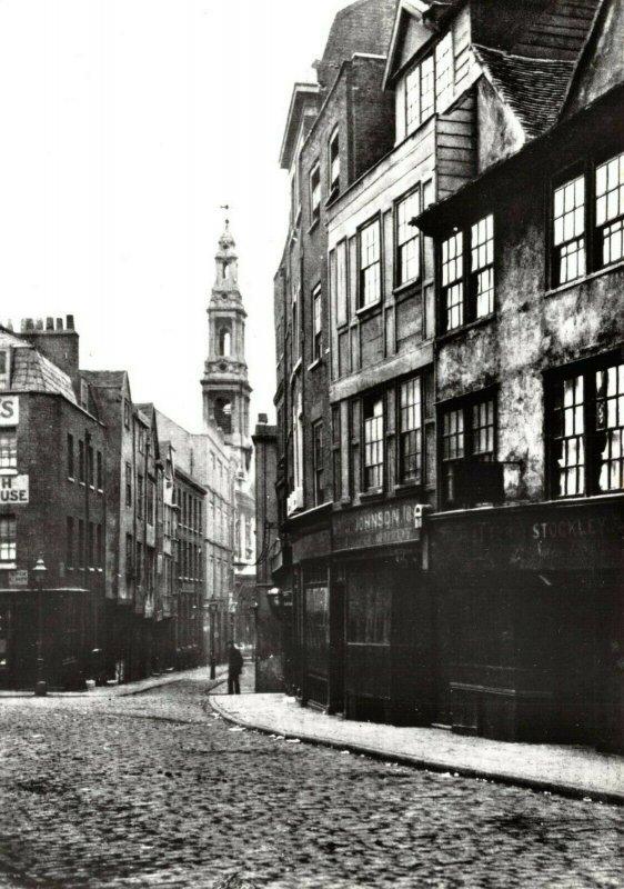 Victorian London reproduction Postcard, Drury Lane 96X