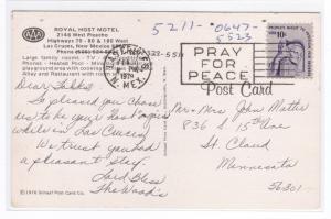Royal Host Motel Las Cruces New Mexico 1979 postcard