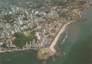 Aerial View of Barra's Lighthouse, Brazil, 50-70s