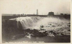 RP: MILNER FALLS & Dam , Idaho , 1910s