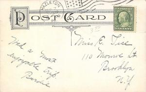 Hazelton Pennsylvania~Hazle Park~Folks Lean on Fence~Table Chairs~1909 Postcard
