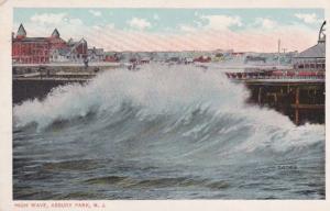 New Jersey Asbury Park A High Wave