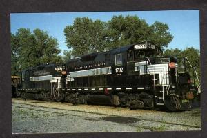NY Finger Lakes Railway Railroad Train Loco 1702 & 1703 Postcard New York PC