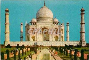 Modern Postcard Taj Mahal Agra Built in pure white marble by Emperor Shah