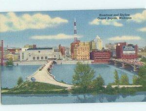 Linen PANORAMIC VIEW Grand Rapids Michigan MI AF0660