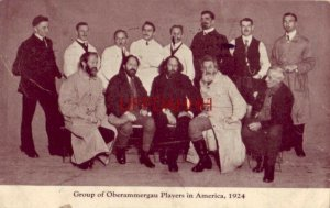 GROUP OF OBERAMMERGAU PLAYERS IN AMERICA, 1924