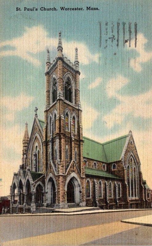 Massachusetts Worcester St Paul's Church 1948