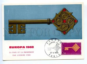 420049 FRANCE 1968 year EUROPA CEPT Council of Europe maximum card