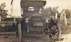 License Plate  #45890 1916 New Jersey Early Hudson Automobile RP Postcard