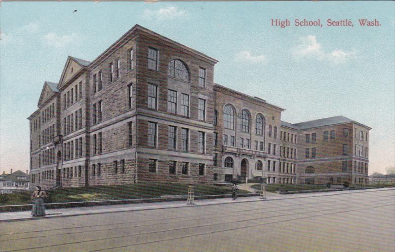 SEATTLE, Washington, 1900-1910´s; High School