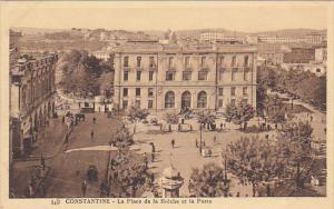 Algeria Constantine La Place de la Breche et la Poste