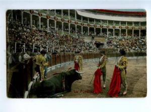 156370 SPAIN Matador TORERO bullfighter BULL La Puntilla OLD