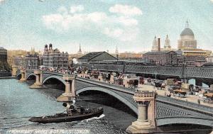 England London Blackfriars Bridge & St. Pauls' Carriages, Ship