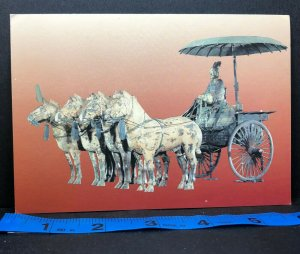 Vintage Postcard Terra-Cotta Warriors Qin Dynasty China High Chariot